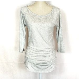 Express Top - Gray, Ruched Size M